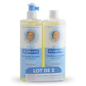 Klorane bébé Gel Douceur Moussant Corps Et Cheveux - 2x500 ml