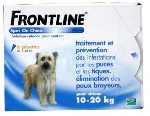 Frontline Spot-On Chien M moyen (10-20 kg) 6 pipettes