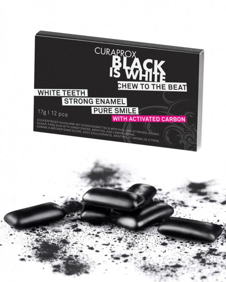 BLACK IS WHITE  chewing gum au charbon
